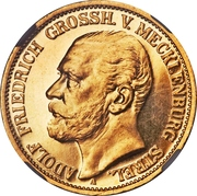 10 Mark - Adolph Friedrich V – avers