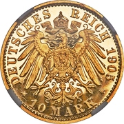 10 Mark - Adolph Friedrich V – revers