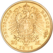 20 Mark - Friedrich Wilhelm – revers