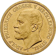 20 Mark - Adolph Friedrich V – avers