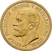 20 Mark - Adolph Friedrich V – avers
