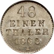 1/48 thaler - Friedrich Wilhelm – revers