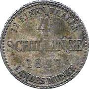 4 Schillinge - Georg – revers