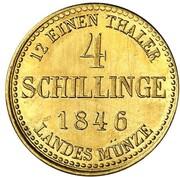 4 schilling Georg (Frappe essai en or) – revers