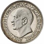 3 mark Adolph Friedrich V (essai) – avers