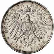 3 mark Adolph Friedrich V (essai) – revers