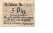 5 Pfennig (Meiningen; Handels- und Gewerbekammer) – avers