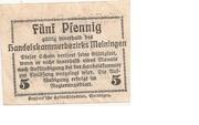 5 Pfennig (Meiningen; Handels- und Gewerbekammer) – revers