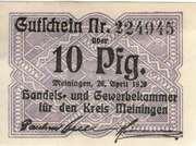 10 Pfennig (Meiningen; Handels- und Gewerbekammer) – avers