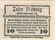 10 Pfennig (Meiningen; Handels- und Gewerbekammer) – revers