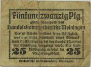 25 Pfennig (Meiningen; Handels- und Gewerbekammer) – revers