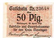 50 Pfennig (Meiningen; Handels- und Gewerbekammer) – avers