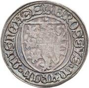 1 schildgroschen Friedrich II,  Friedrich IV & Sigismund – avers
