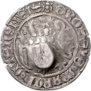 1 Schildgroschen - Friedrich II. der Sanftmütige (Freiberg) – revers