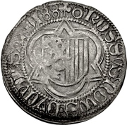 1 Halbschwertgroschen - Friedrich III, Johann, and Albrecht. (Schneeberg) – revers