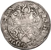 1 Zinsgroschen - Friedrich III, with Johann, and Georg (Freiberg) – avers