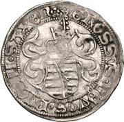 1 Zinsgroschen - Friedrich III, with Johann, and Georg (Freiberg) – revers