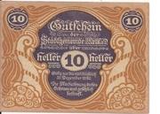 10 Heller (Melk) -  avers