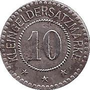 10 pfennig - Melsungen – revers
