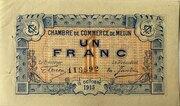 1 franc - Chambre de Commerce de Melun [77] – avers