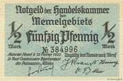 ½ Mark / 50 Pfennig – avers