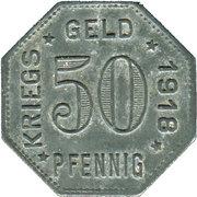 50 pfenning - Mengen – revers