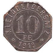 10 pfennig - Bad Mergentheim – revers