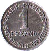 1 pfennig - Bad Mergentheim – avers