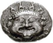 Diobol (Methymna) – avers