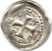 Denier Jean 1er d'Apremont (Évêché de Metz, type 2 à la crosse et à la petite croix) – revers