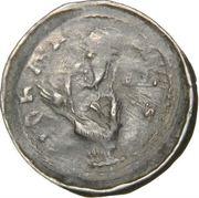 Denier Jean 1er d'Apremont (Évêché de Metz, type 1 aux mains jointes et à la main bénissante) – avers