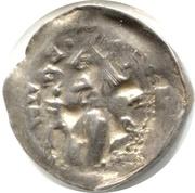 Denier Jean 1er d'Apremont (Évêché de Metz, type 2 à la crosse et à la petite croix) – avers