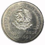5 pesos Voie Ferrée Sud -  avers