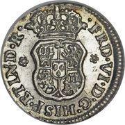 ½ real - Fernando VI (monnaie coloniale) – avers