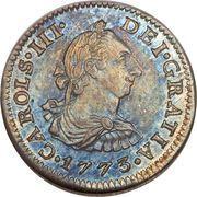 ½ real - Carlos III (monnaie coloniale) – avers