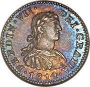 ½ real - Ferdinand VII (monnaie coloniale) – avers