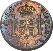 ½ real - Ferdinand VII (monnaie coloniale) – revers