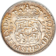 2 Reales - Ferdinand VI  (Monnayage colonial) – avers