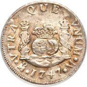 2 Reales - Ferdinand VI  (Monnayage colonial) – revers