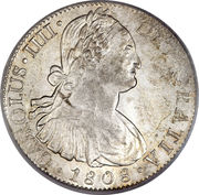 8 reales - Charles IV (monnaie coloniale) -  avers