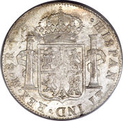 8 reales - Charles IV (monnaie coloniale) -  revers