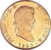 8 escudos - Ferdinand VII (monnaie coloniale) – avers