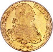 8 escudos - Carlos IV (monnaie coloniale) – avers