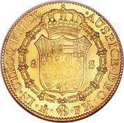 8 escudos - Carlos IV (monnaie coloniale) – revers