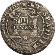 3 Reales - Charles I – revers