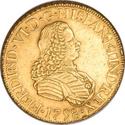 8 Escudos - Ferdinand VI – avers