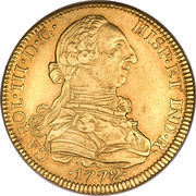 8 Escudos - Charles III – avers