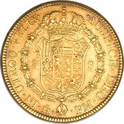 8 Escudos - Charles III – revers