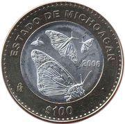 100 Pesos (Michoacan) – revers