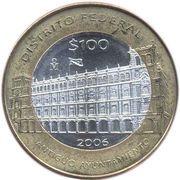 100 Pesos (Distrito Federal) – revers